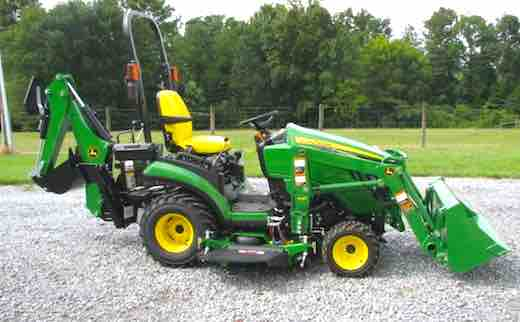 john deere 1025r open hood how to